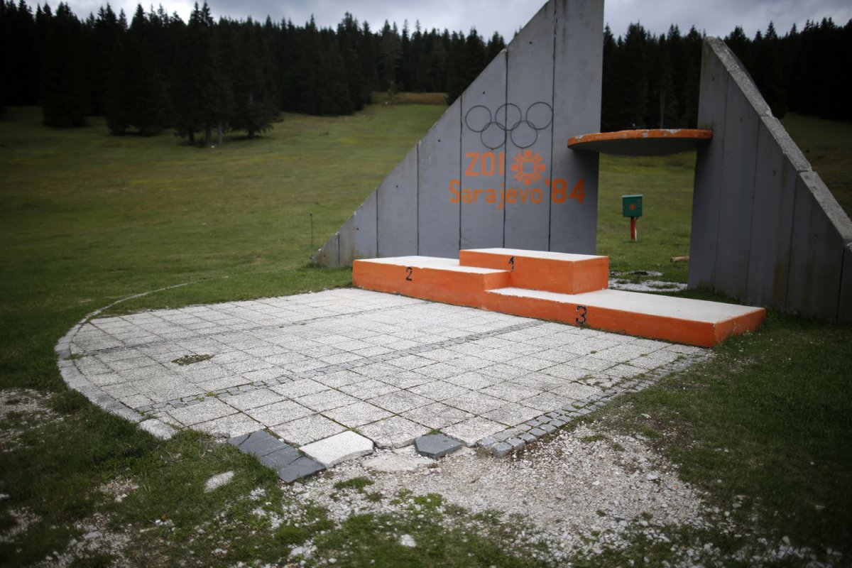 02 - The medal podium at the ski jump venue