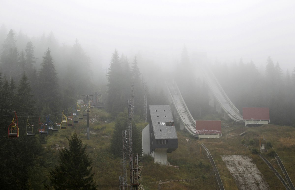 03 - The abandoned ski jump at Mount Igman