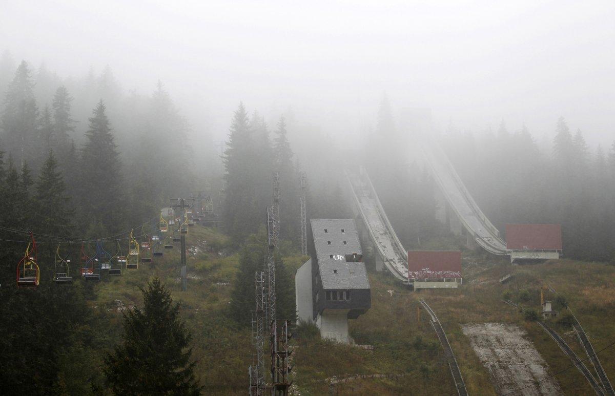 03 - The abandoned ski jump at Mount Igman