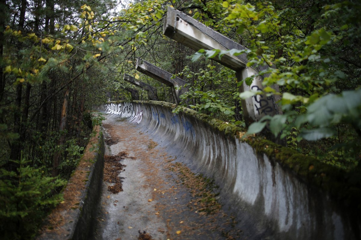 08 - The broken down bobsled track at Mount Trebevic