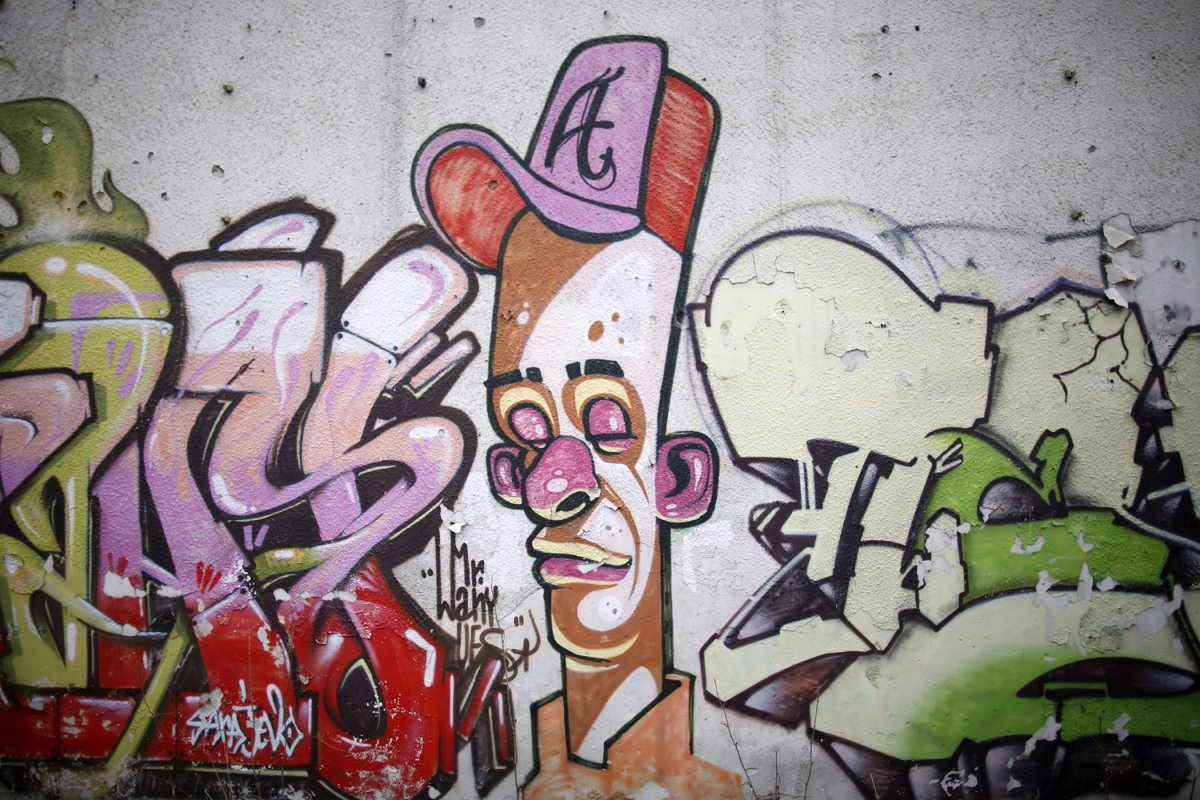 10 - Some of the graffiti is pretty intricate
