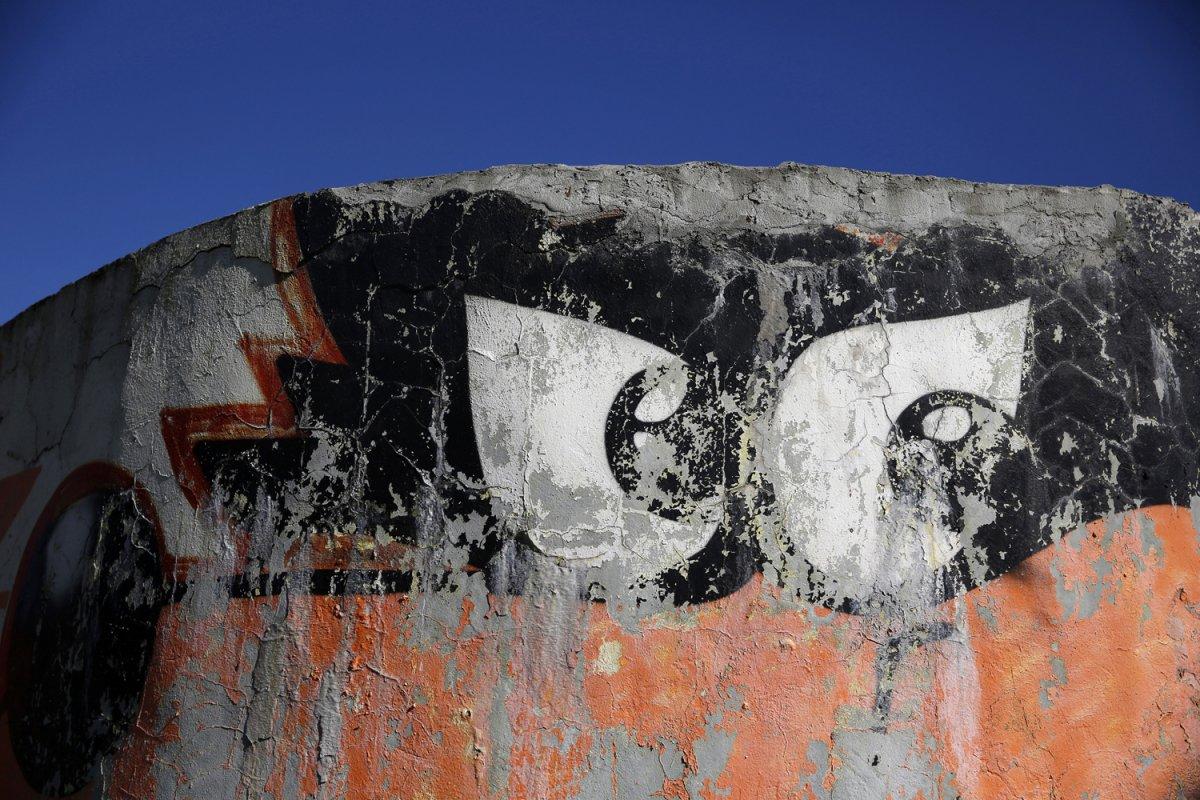 15 - Graffiti on Zetra Hall