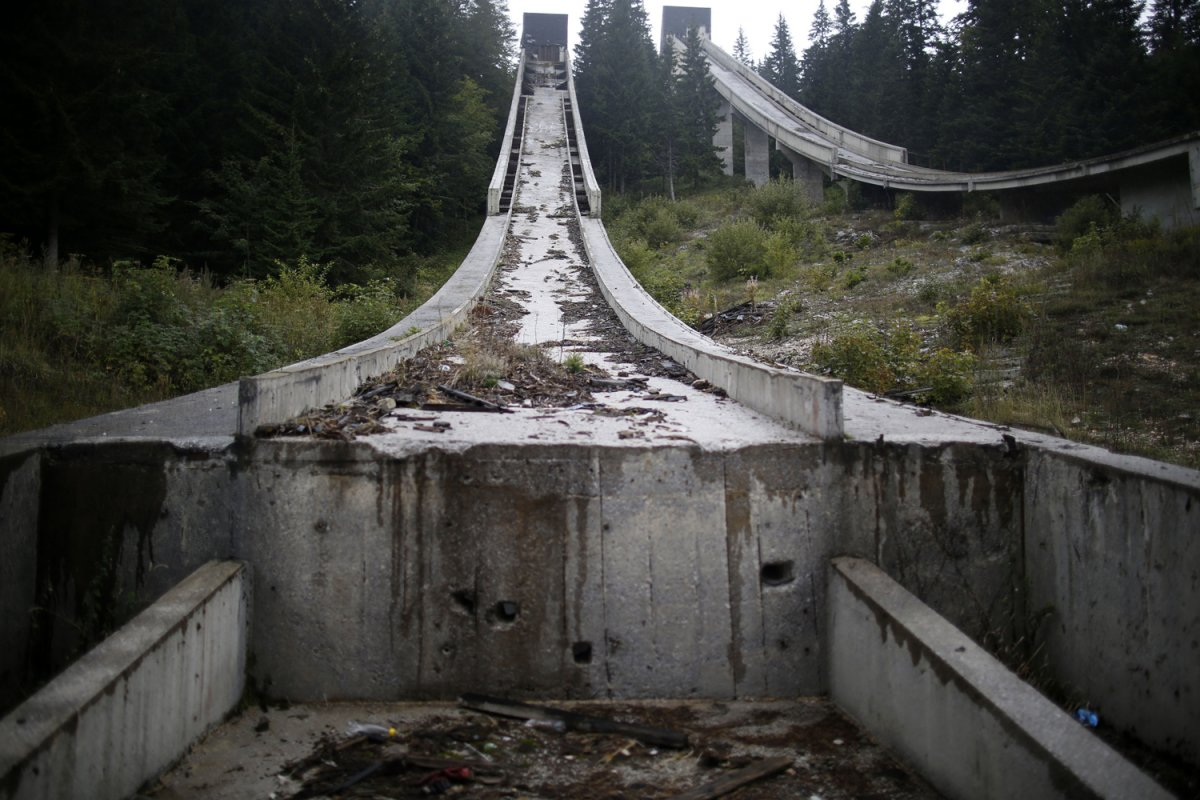 20 - The bottom of the ski jump