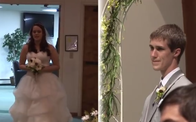 This Bride's Entrance Had Everyone In Tears