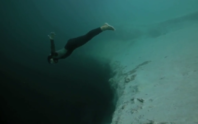Diver Plummets Into the Abyss…On Purpose. I Had To Remind Myself to Breathe.