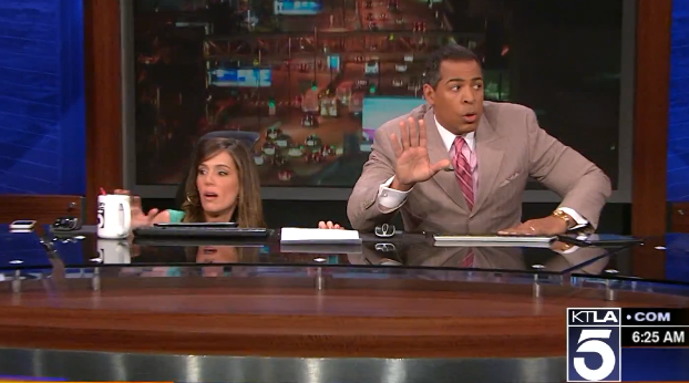 Watch LA News Anchors Freak Out During This Morning's Earthquake