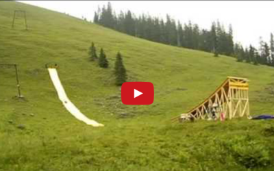 Makeshift Water Slide Sends Rider Flying Hundreds of Feet in the Air – Watch What Happens