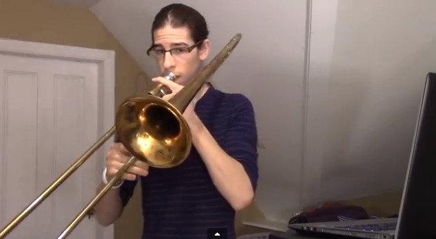 "Incredible Cover of ""Happy"" Created Entirely By Trombone"