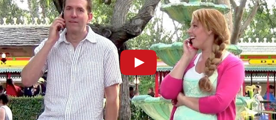 Comedian Pranks Unsuspecting Disneyland Guests – Their Reactions Are Priceless