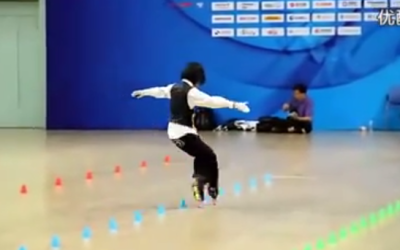 "Chinese Roller Blader Puts Incredible ""Spin"" on ""Beat It"""